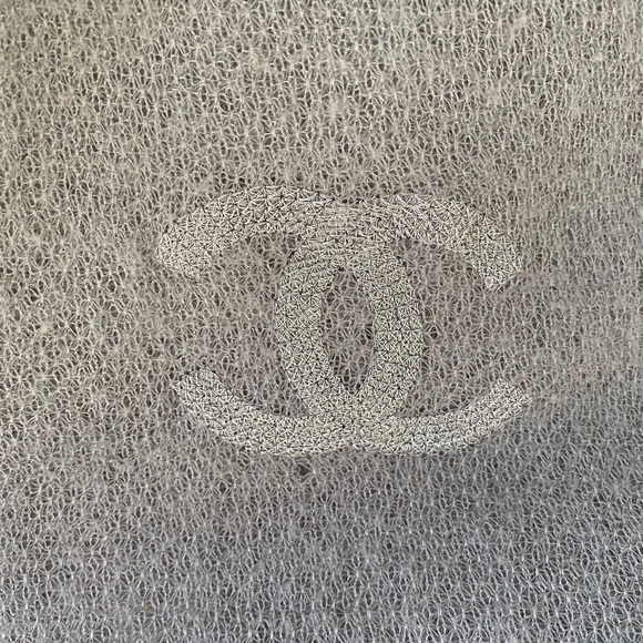 Authentic Chanel 100% Cashmere Grey